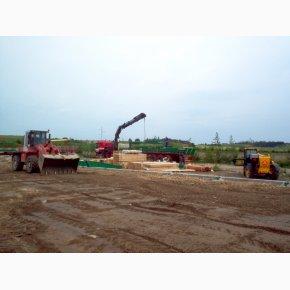 Opførsel af maskinhus ved Brdr. Kjeldahl juni 2005